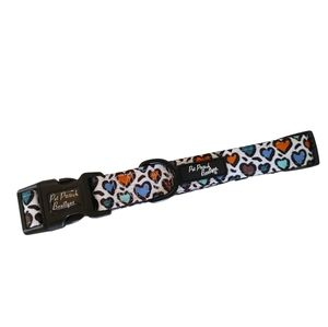 New Large Dog Collar Multi Color Hearts